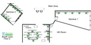 Floor 2 Seminar Rooms & A Level Academy