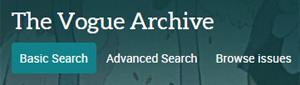 Vogue Archives logo