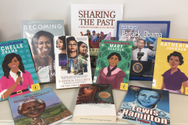 Black history books in the Library