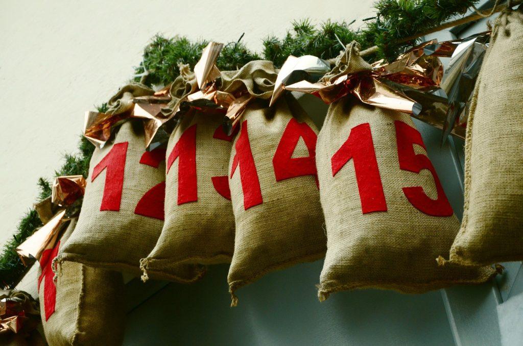 advent calendar santa sacks