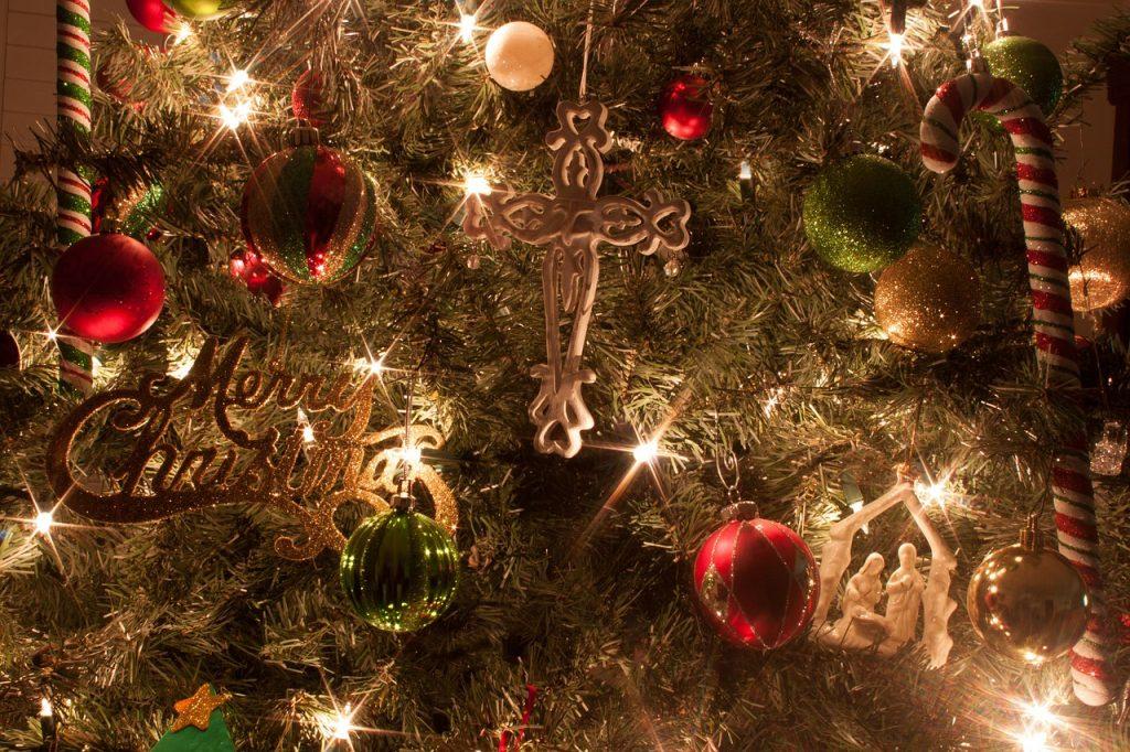 Christmas cross decoration