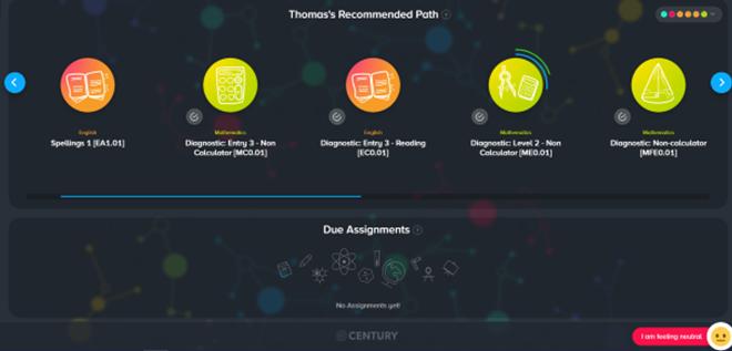 Century Tech path