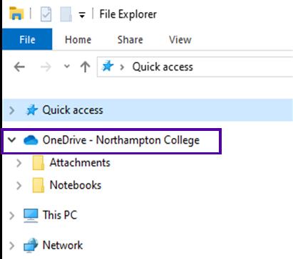 OneDrive folder in Quick Access