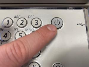 press on button