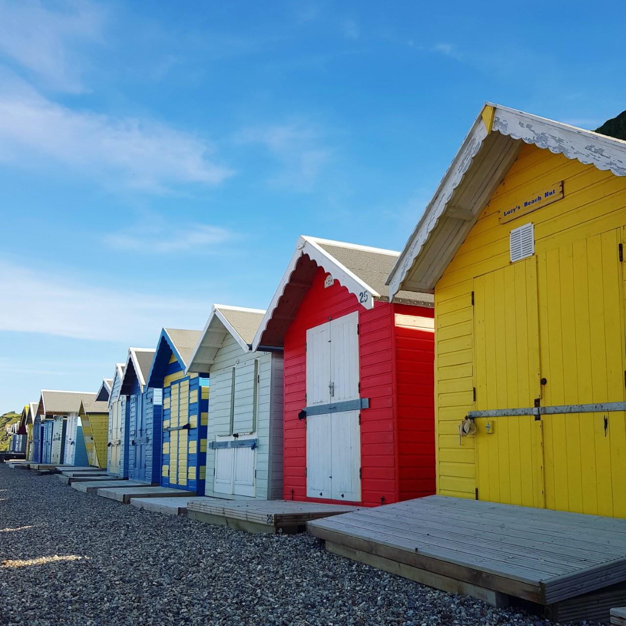 Norfolk Beach Huts by Alex Hamblin