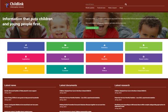 Childlink homepage screenshot