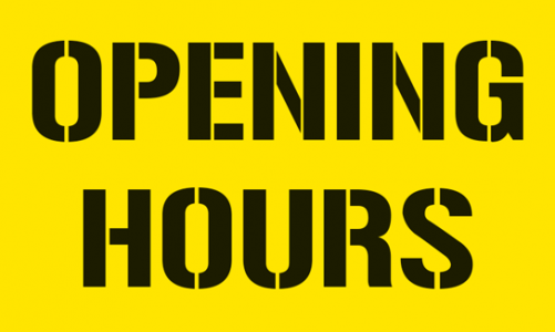 Library opening hours confirmed